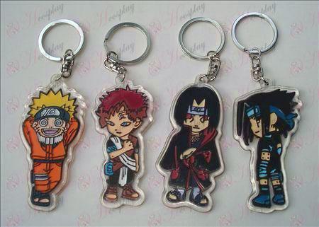 4. Naruto organsko obesek za ključe (6 / set)