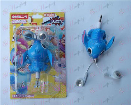 Lilo & Stitch Accessories Auto Retractable MP3 Earphone (a)