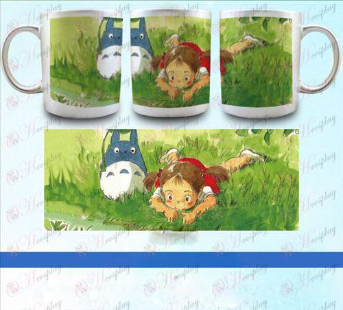 YB098-השכן Totoro אבזרים pearlescent כסף הגביע