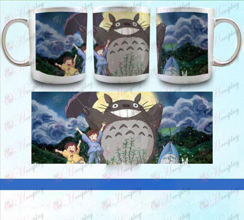 YB097-השכן Totoro אבזרים pearlescent כסף הגביע