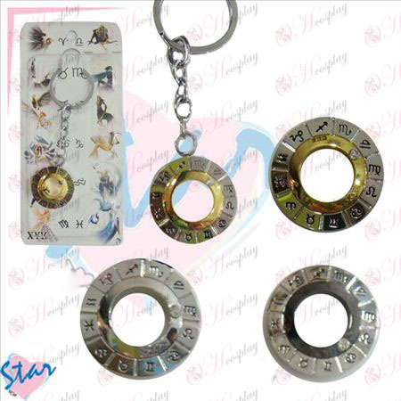 Douze constellations accessoires Turn Key Chain
