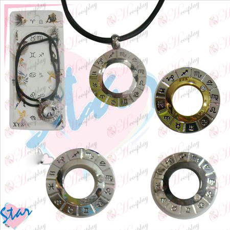 Twelve constellations Accessories rotation necklace