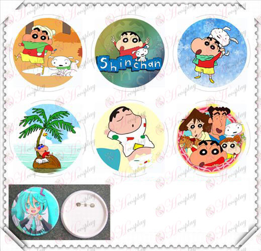 6 montato 75MM luce cinematografici badge-Crayon Shin-chan Accessori