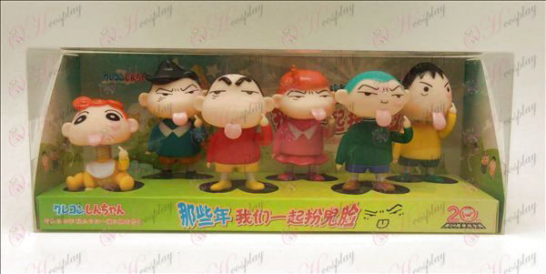 6 Moving Crayon Shin-chan Accessories