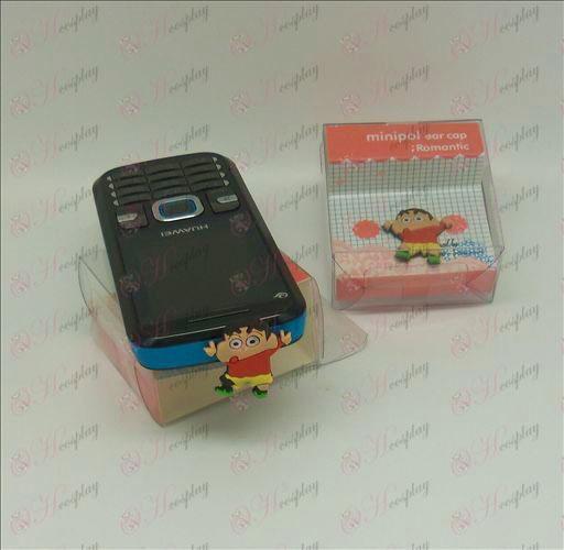 Мобилен телефон слушалки щепсел (Crayon Shin-Chan аксесоари)