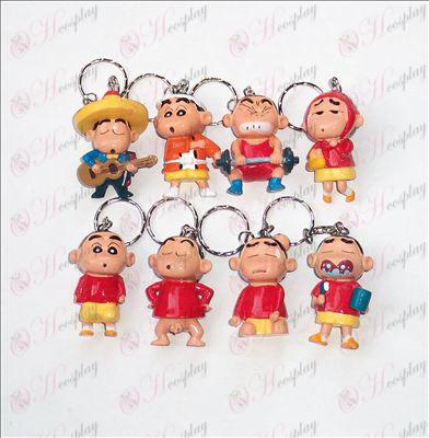 Eight Crayon Shin-chan Accessories doll keychain