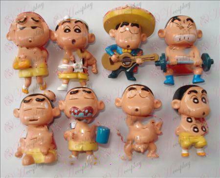 שמונה Crayon שין צ\'אן אבזרים בובה