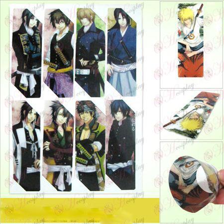 SQ004-Hakuouki Αξεσουάρ anime Bookmarks μεγάλη (5 έκδοση της τιμής)