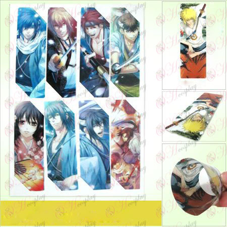 SQ003-Hakuouki Accessories anime big Bookmarks (5 version of the price)