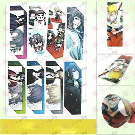SQ002-Hakuouki Αξεσουάρ anime Bookmarks μεγάλη (5 έκδοση της τιμής