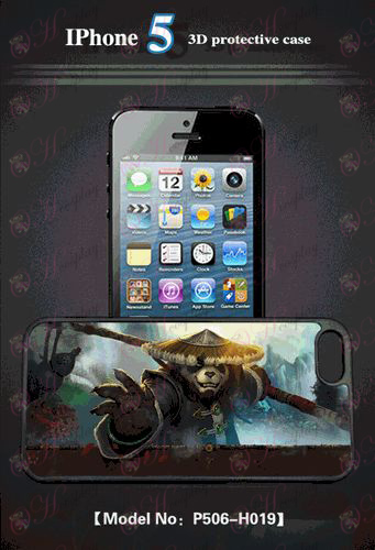 3D mobile phone shell Apple 5 - Kung Fu Panda