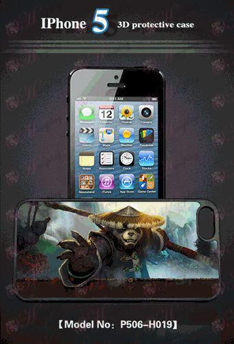 טלפון נייד 3D קליפת תפוח 5 - קונג פו פנדה