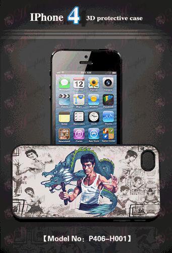 3D мобилен телефон черупка Apple 4 - Bruce Lee