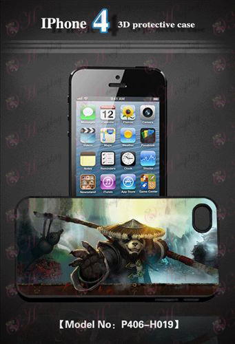 3D mobile phone shell Apple 4 - Kung Fu Panda