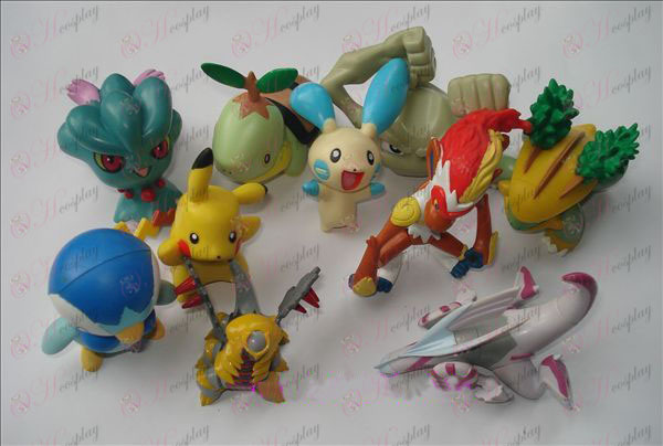 Ægte 10 Pokemon Tilbehør Doll (7-9cm)