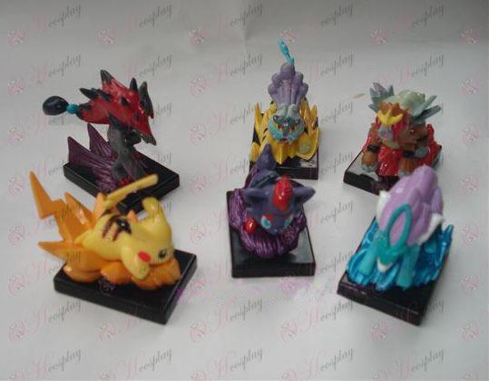 6 Pokemon Tilbehør Doll