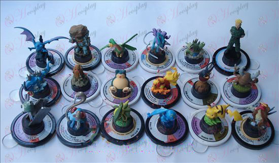 Оригинални 18 модели Pokemon аксесоари (6 cm)
