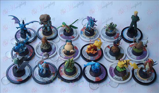 Оригинални 18 модели Pokemon аксесоари (6 cm)