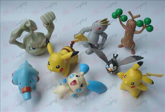 Genuine eight Pokemon Accessories Doll (7-9cm)