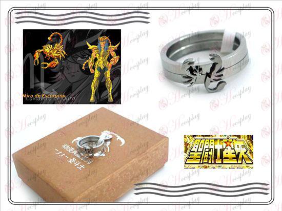Saint Seiya Tilbehør skorpion rustfrit stål par ringe Seiya