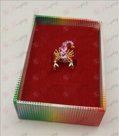 Saint Seiya Tilbehør skorpion ring (Pink)