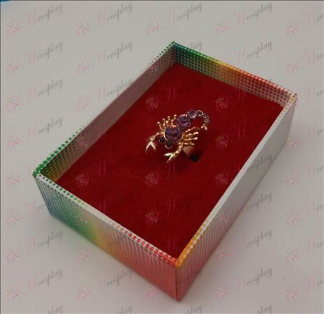 Saint Seiya Accessori Scorpion Ring (Viola)