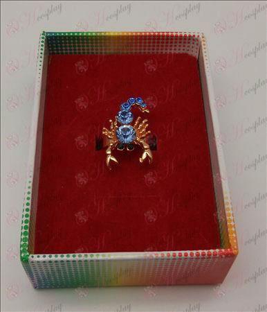 Saint Seiya Tilbehør Scorpion Ring (blå)