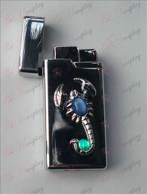 Scorpion скъпоценност запалка (бял)
