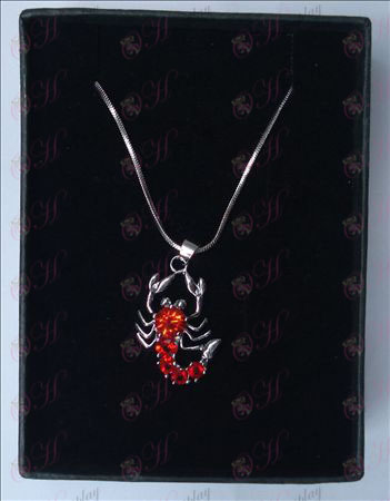 Saint Seiya Accessories scorpion necklace (red)