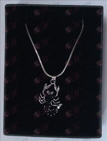 Saint Seiya Tilbehør skorpion halskæde (sort)