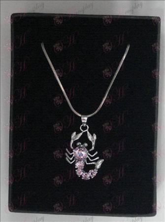 Saint Seiya Tilbehør skorpion halskæde (lyserød)