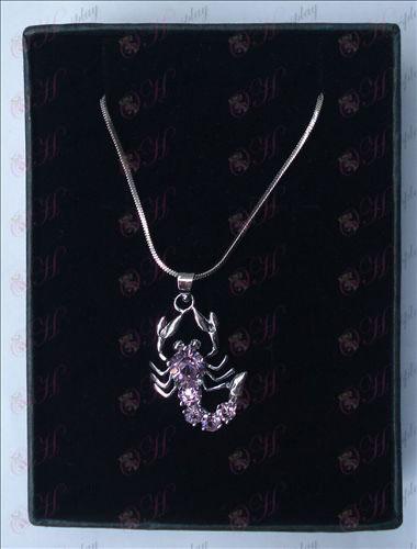 Saint Seiya Tilbehør skorpion halskæde (lilla)