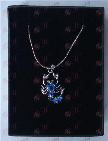 Saint Seiya Аксесоари скорпион колие (светло синьо)