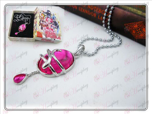 Magical Girl Accessories drop necklace (Rose Red Type A) Box