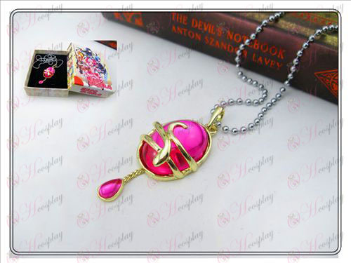 Magical Girl Accessories drop necklace rose red boxed section AA