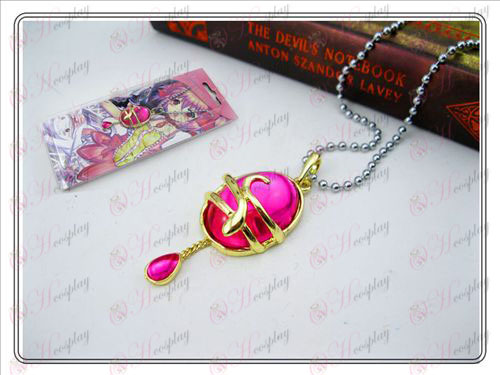 Ragazza Accessori goccia collana carta magica (Rose Red) installato comma AA