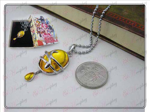 Magical Girl Accessories капка огърлица (жълт) в опаковка