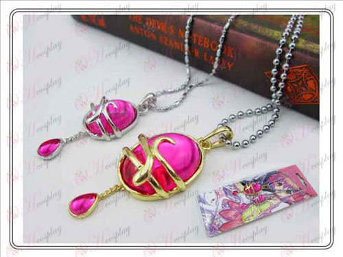 Magical Girl Accessories couple drop necklace Rose Red (A section) card installed