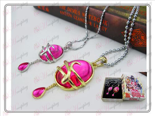 Magical Girl accessoires couple de chute de collier rose rouge (une section) Boxed