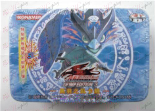 Echte Tin Yu-Gi-Oh! Accessoires Card (Black Feather wind kaartgroep)