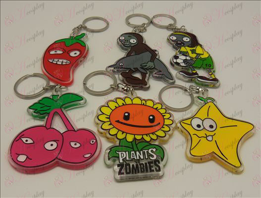 Plants vs Zombies Accessories organic Keychain (6 / set)