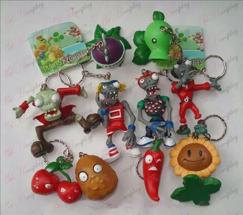 10 Plants vs Zombies Accessori Portachiavi