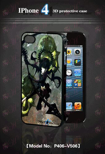 3D mobile phone shell Apple 4-Lack Rock Shooter Accessories-2