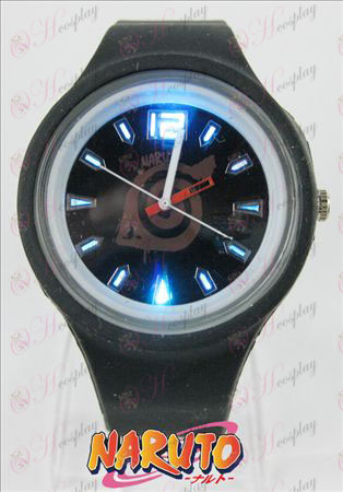 Farebné blikajúce svetla športové hodinky - Konoha značka
