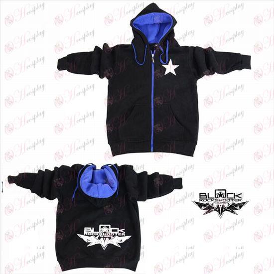 Lack Rock Shooter Accessories shooter logo zipper sweater hoodie black