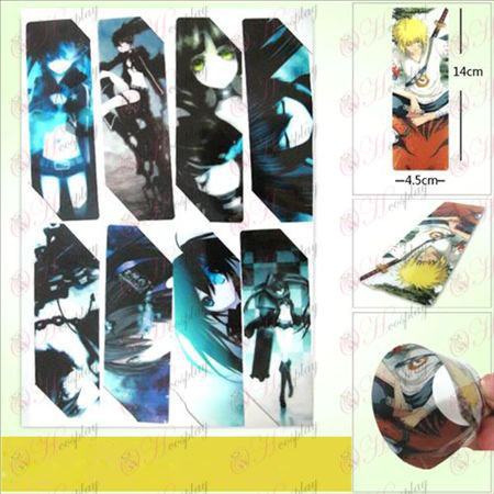 SQ014-Lack Rock Shooter Accessories anime big Bookmarks (5 version of the price)
