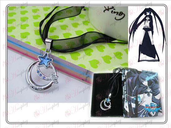 Lack Rock Shooter Accessories Blue Star of Love Necklace