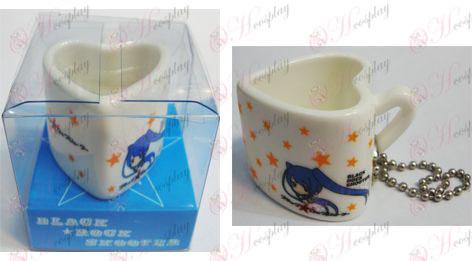 부족 록 슈터 액세서리 가방 펜던트 하트 모양의 세라믹 컵