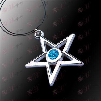 Lack Rock Shooter Accessories pentagram necklace (blue)