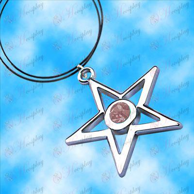 Brist Rock Shooter Tillbehör pentagram halsband (rosa)